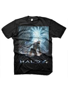 Halo 4-T-Shirt Lizenzware schwarz-blau