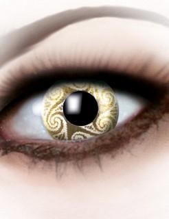 Kontaktlinsen Wirbel gold-gelb