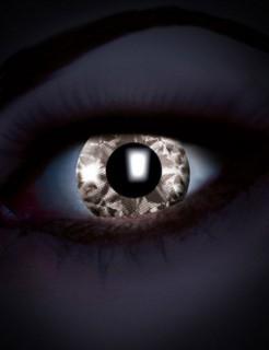UV Kontaktlinsen Schwarzlicht Diamond weiss