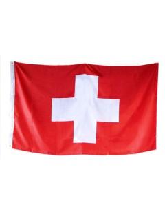 Flagge Schweiz Fussball Fanartikel rot-weiss 90x150cm