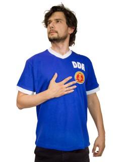 DDR-Kulttrikot Fussball Fanartikel Ostalgie blau-weiss