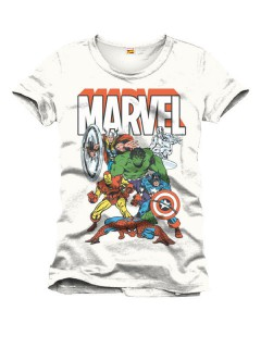 Avengers™-T-Shirt Marvel™ weiss-bunt