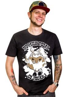 Veganer-Shirt T-Shirt No Milk Today schwarz-weiss