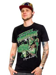 Veganer-Shirt T-Shirt Planteaters schwarz-grün