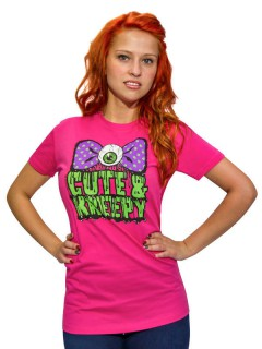 Kreepsville-Damenshirt Cute and Kreepy pink