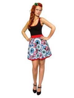 Kreepsville Gothic Augapfel-Kleid bunt