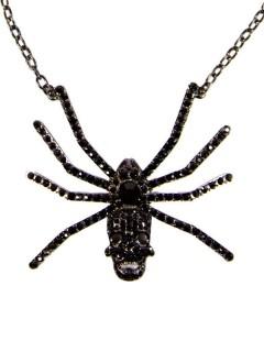 Kreepsville Gothic Halskette Spinne schwarz