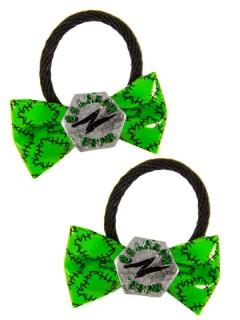 Kreepsville Gothic-Haargummi 2 Stück schwarz-silber-grün
