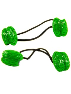 Kreepsville-Haargummis Gehirn-Haarschmuck 2 Stück grün