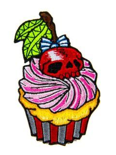 Kreepsville Gothic Aufnäher Cupcake pink-rot