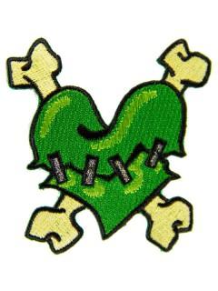 Kreepsville Gothic Aufnäher Herz grün