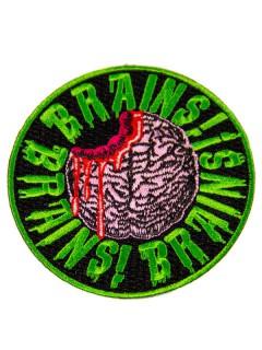 Kreepsville Gothic Aufnäher Brains schwarz-grün-rosa