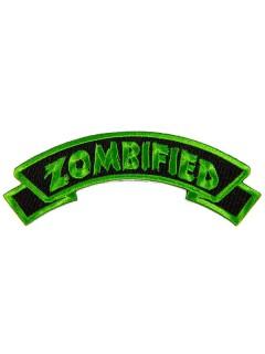 Kreepsville Gothic Aufnäher Zombified schwarz-grün