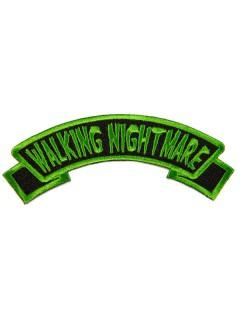 Kreepsville Gothic Aufnäher Walking Nightmare schwarz-grün