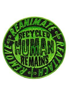 Kreepsville Gothic Aufnäher Recycled Human schwarz-grün