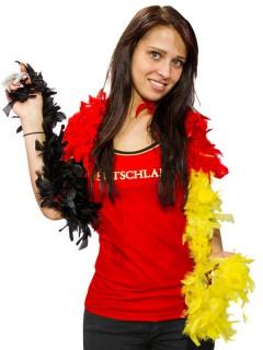 Federboa Deutschland Fussball Fanartikel schwarz-rot-gelb 180cm