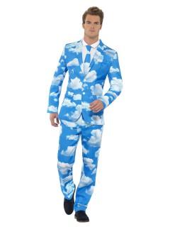 Wolkenhimmel Anzug blau-weiss
