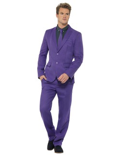 Karneval Herren Anzug lila
