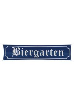 Oktoberfest Deko-Banner Biergarten blau-weiss 40x180cm