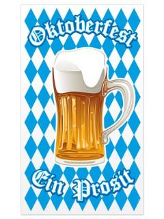Oktoberfest Türposter blau-weiss-braun 70x120cm