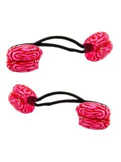 Kreepsville-Haargummis Gehirn-Haarschmuck 2 Stück pink