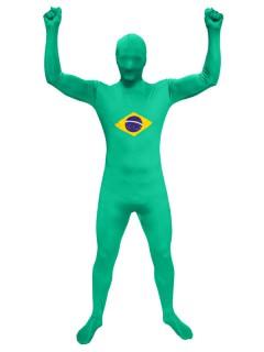 Speedsuit Brasilien Fussball Fanartikel grün-gelb-blau