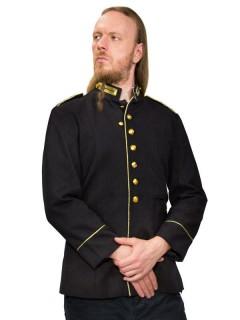 Gothic-Uniformjacke blau-gold