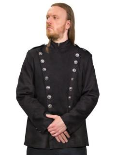 Gothic Uniformjacke für Herren schwarz-silber