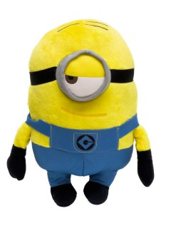 Minions™-Plüschtier Stuart Lizenzprodukt gelb-blau 28cm