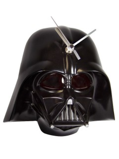 Star Wars™-Wanduhr Darth Vader™ mit Soundeffekt und Licht schwarz 20x11x20cm