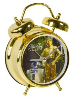 Star Wars Wecker R2-D2 und C3PO mit Sound Lizenzware gold-bunt