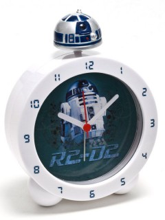 Star Wars™ R2D2-Wecker mit Licht und Soundeffekten weiss-blau 18x6x24cm