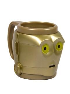 C3PO 3D-Tasse Star Wars™ Lizenzprodukt gold 12x12x10cm
