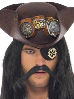 Steampunk Augenklappe schwarz-bronze