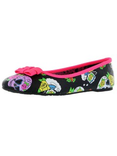 Iron Fist Sugar Skull-Ballerinas Schuhe bunt