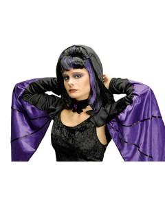 Vampirin Fledermaus Bolero lila-schwarz