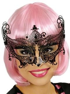 Venezianische Metall-Augen-Maske schwarz