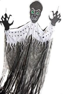 Riesen Geist XXL Halloween-Deko schwarz-weiss 193x305cm