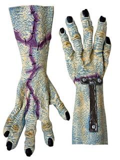Riesen-Monster-Hände Latex grau-lila-blau