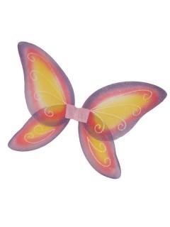 Feen-Flügel Glitzer Schmetterling pink-orange