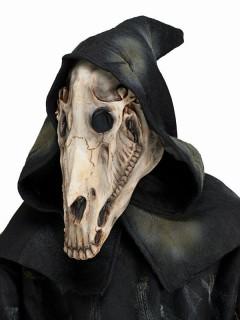 Pferde-Schädel Halloween-Maske grau-weiss