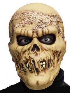 Verwester Zombie Halloween-Maske haut
