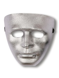 Gesichts-Maske Phantom silber