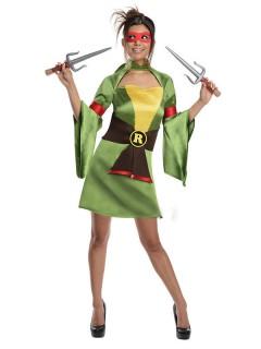 TMNT Raphael Damenkostüm Turtles grün-gelb-schwarz