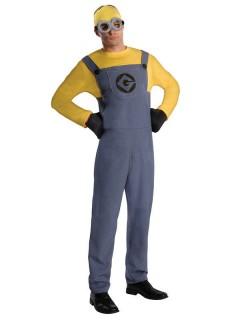 Minions Dave Kostüm Lizenzware blau-gelb