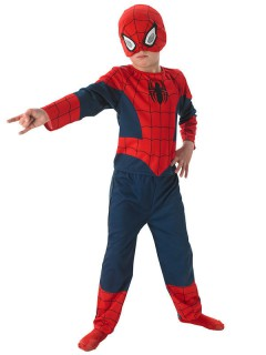 Spiderman Kinderkostüm Comic dunkelblau-rot