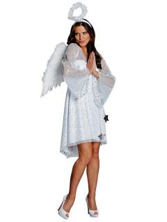 Engel Damenkostüm Weihnachten weiss