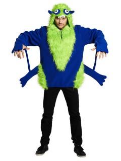 Monster Unisex Halloween-Kostüm blau-grün