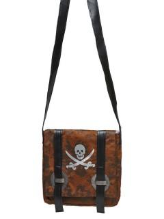 Piraten Handtasche Skull braun