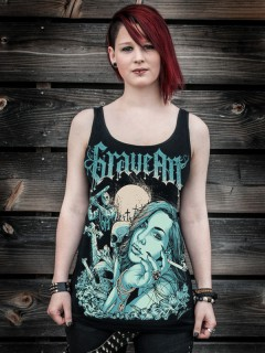 GraveArt-Tanktop Beauty and the Beast für Damen schwarz-blau